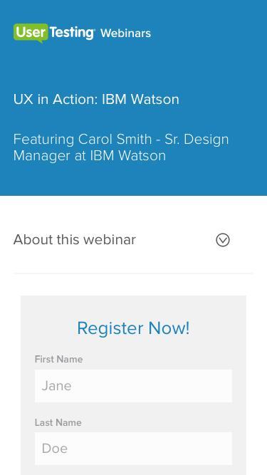 OnDemand Webinar - UX in Action: IBM Watson | UserTesting
