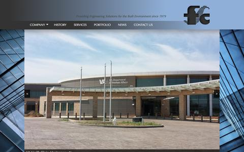 Screenshot of Home Page fsc-inc.com - FSC Consulting Engineers — Providing Engineering Solutions to the Built Environment Since 1979 - captured Oct. 5, 2017