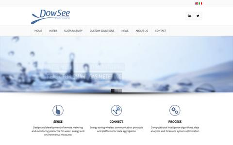 Screenshot of Home Page dowsee.it - DowSee Srl - captured Feb. 9, 2016