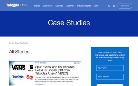 Screenshot of Case Studies Page taboola.com - Case Studies Archives - Page 6 of 6 - Taboola Blog - captured April 13, 2018