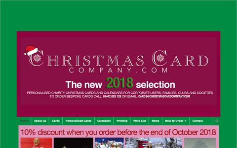 Screenshot of Home Page christmascardcompany.com - Personalised Charity Christmas Cards | Company Christmas Cards - captured Oct. 31, 2018