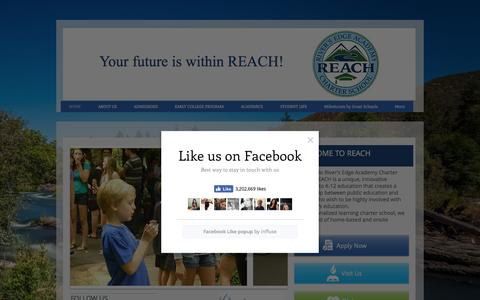 Screenshot of Home Page reach-school.org - River's Edge Academy Charter School - REACH / Rogue River independent - captured Dec. 10, 2016