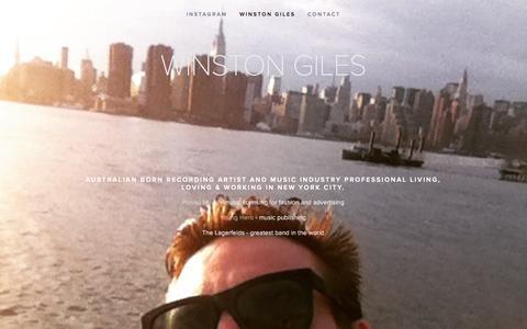 Screenshot of Home Page winstongiles.com - Winston Giles - captured Oct. 13, 2015