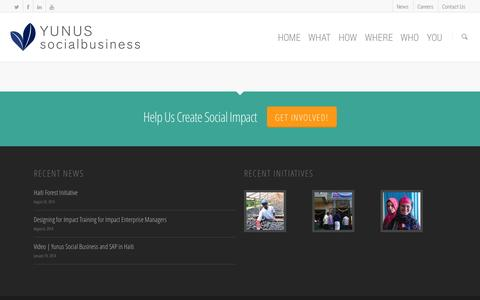 Screenshot of Case Studies Page yunussb.com - Case Studies & Media    Yunus Social Business - captured Sept. 19, 2014
