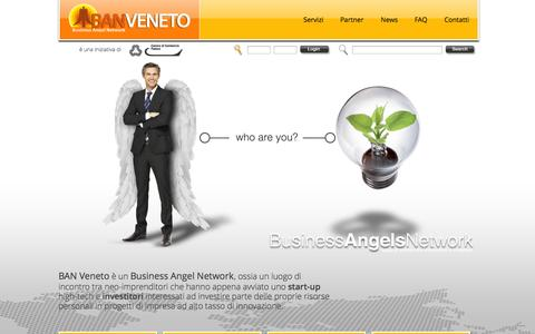 Screenshot of Home Page banveneto.com - BANVeneto - Business Angels Network - captured Sept. 30, 2014