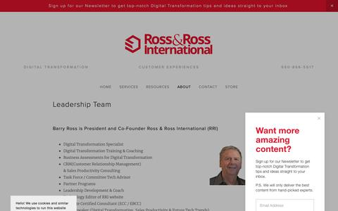 Screenshot of Team Page rossross.com - Leadership — Ross & Ross International - captured Feb. 17, 2019