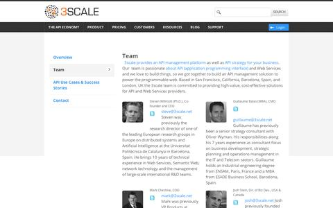 Team - 3scale - The API Management Solution