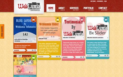 Screenshot of Blog weblumia.com - Blog - Weblumia Infomatics | Web Lumia Infomatics - captured Oct. 7, 2014