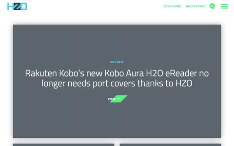 Screenshot of Press Page hzo.com - Press   HZO : HZO - captured May 9, 2017