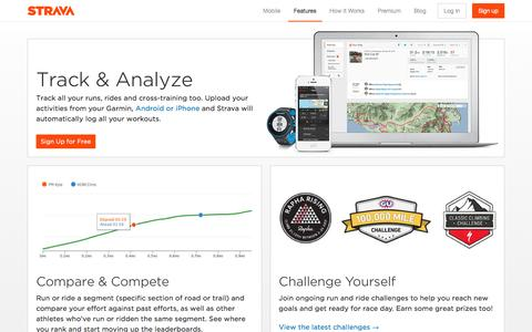 Strava Features   GPS Tracking, Maps, Analytics, Challenge Friends, Find Top Runs and Rides