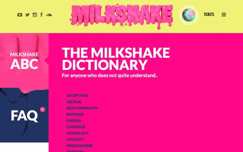 Screenshot of FAQ Page milkshakefestival.com - Information | Milkshake Festival - captured July 5, 2018