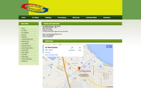 Screenshot of Maps & Directions Page understandclothing.com - St. Cloud Car Detailing, Kissimmee Car Detailing, Car Wash and Kissimmee Car Wash.  Car wash for $5 in St. Cloud, FL. - captured Sept. 30, 2014