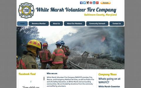 Screenshot of Home Page wmvfc.org - White Marsh Volunteer Fire Company - captured Oct. 1, 2014