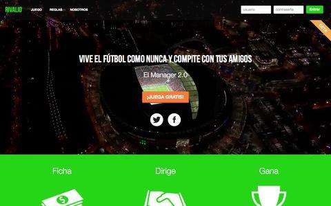 Screenshot of Home Page rivalio.com - Rivalio - captured Sept. 30, 2014