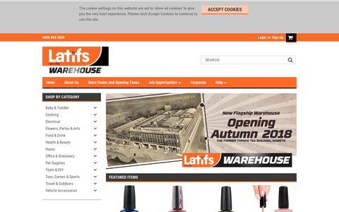 Screenshot of Home Page latifs.co.uk - Latifs - captured July 16, 2018