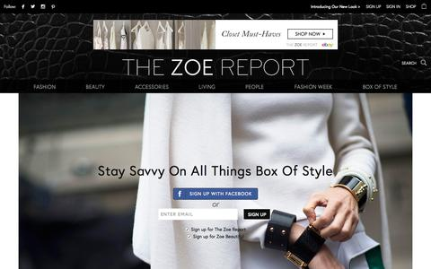 Screenshot of Signup Page thezoereport.com - Signup | The Zoe Report - captured Oct. 2, 2015