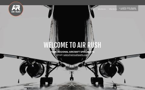 Screenshot of Home Page airrushparts.com - Air Rush - Airplane Parts, Embraer - captured Oct. 3, 2018