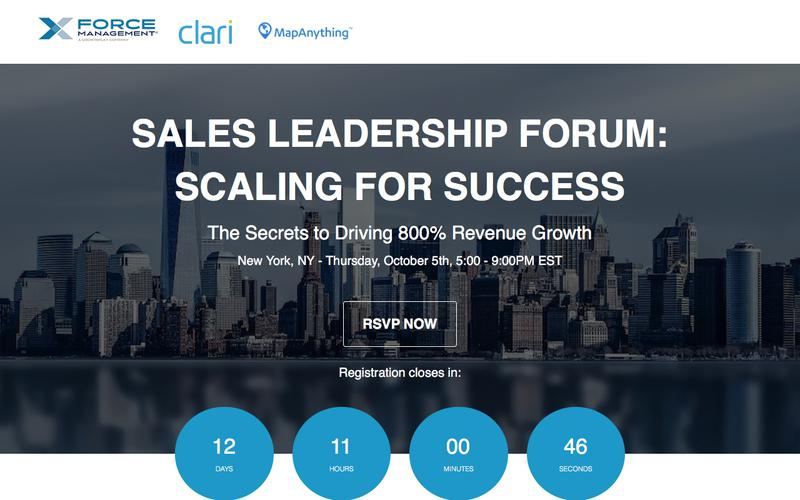 Sales Leadership Forum: Scaling for Success