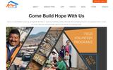 New Screenshot Amor Ministries Home Page