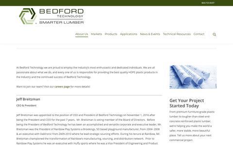 Screenshot of Team Page plasticboards.com - Leadership Team   Bedford Technology - captured Nov. 13, 2018