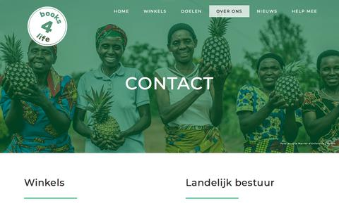 Screenshot of Contact Page books4life.nl - Contact | De mensen en formule van Books 4 Life - captured Aug. 3, 2018