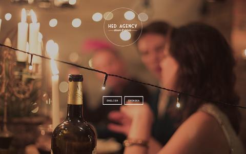 Screenshot of Home Page hedagency.com - Hed Agency - captured July 21, 2015