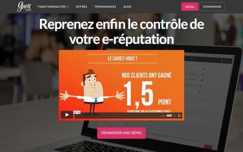 Screenshot of Home Page guest-suite.com - Guest Suite - Simplifiez vous l'avis !E-réputation, veille... - captured May 25, 2017