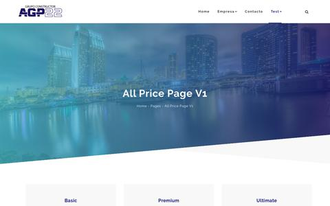 Screenshot of Pricing Page agp22.com - All Price Page V1 - AGP Proycon - captured Oct. 2, 2018