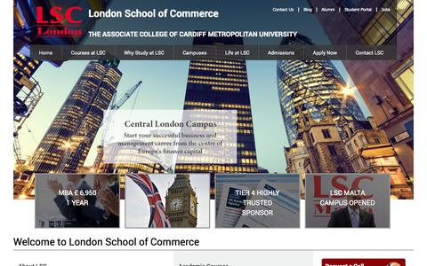 Screenshot of Home Page lsclondon.co.uk - Study with LSC London   Highly Trusted College In London - captured Sept. 19, 2014