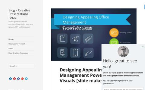 Screenshot of Blog infodiagram.com - Blog - Creative Presentations Ideas - infoDiagram visual slide examples, PowerPoint diagrams & icons , PPT tricks & guides - captured Oct. 13, 2018