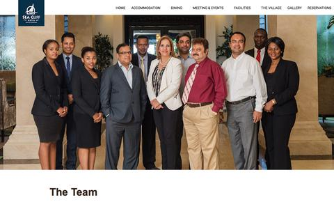 Screenshot of Team Page hotelseacliff.com - The Team - Sea Cliff Hotel Dar es Salaam - captured Sept. 24, 2018