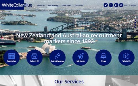 Screenshot of Home Page whitecollarblue.com.au - WhiteCollarBlue - captured Aug. 17, 2015