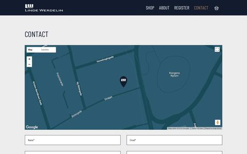 Screenshot of Contact Page lindewerdelin.com - Contact - Linde Werdelin - captured July 20, 2018