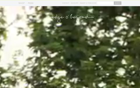 Screenshot of Home Page edgeobeyond.com - Edge o' Beyond | Luxury Lingerie, Nightwear and Jewellery with a twist – edgeobeyond - captured Jan. 29, 2016