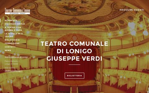 Screenshot of Home Page teatrodilonigo.it - Teatro Comunale di Lonigo - captured Sept. 19, 2015
