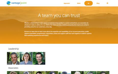 Screenshot of Team Page vantagep.com - Team | VantagePoint Marketing - captured Nov. 4, 2014