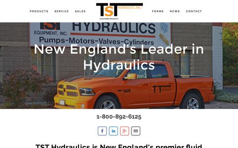 Screenshot of Home Page tsthydraulics.com - TST Hydraulics - captured Feb. 22, 2016