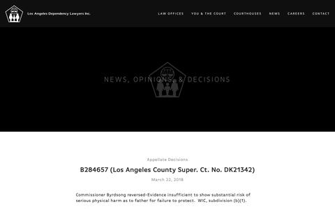 Screenshot of Press Page ladlinc.org - News — Los Angeles Dependency Lawyers - captured Sept. 30, 2018