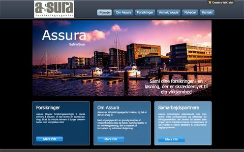 Screenshot of Home Page assura.dk - Assura Forsikringsagentur ApS - captured Oct. 4, 2014