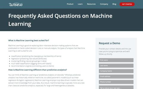 Machine Learning FAQ | Wise.io