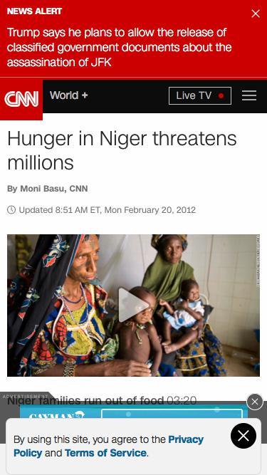 Hunger in Niger threatens millions - CNN