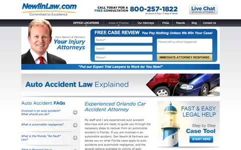 Orlando Car Accident Attorney - Dan Newlin
