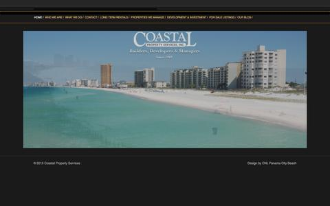 Screenshot of Home Page cpservices.net - Coastal Property - Coastal Property Services - captured Jan. 29, 2016