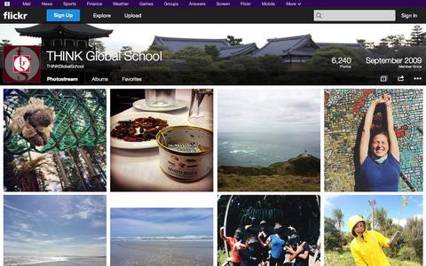 Screenshot of Flickr Page flickr.com - Flickr: THINKGlobalSchool's Photostream - captured Oct. 25, 2014