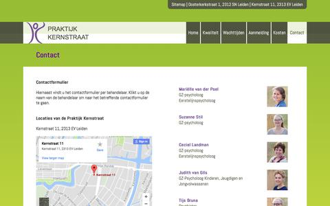 Screenshot of Contact Page kernstraat11.nl - Contact - De Kernstraat Leiden - captured Sept. 19, 2017