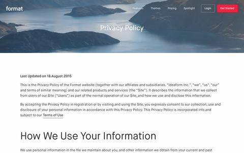 Privacy Policy - Format
