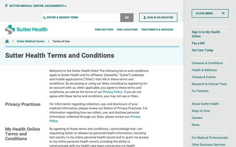 Healthcare & Medical Terms Pages | Website Inspiration and Examples