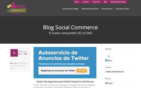 Screenshot of Blog socialtocommerce.com - Blog Social CommerceConsultoría Social Commerce - captured Oct. 7, 2014