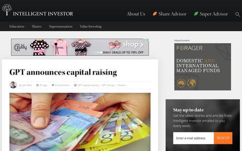 Screenshot of Home Page intelligentinvestor.com.au - Intelligent Investor   Intelligent Investor - captured Jan. 21, 2015