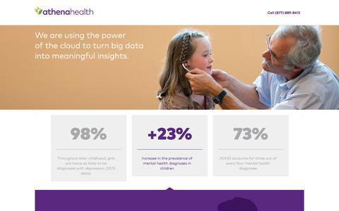 Screenshot of Landing Page athenahealth.com - athenahealth | Cloud-Based EHR, Practice Management | OLA - captured Oct. 30, 2016